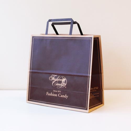 手提げ紙袋(茶・中)高さ250�o×横260�o×横幅118�o
