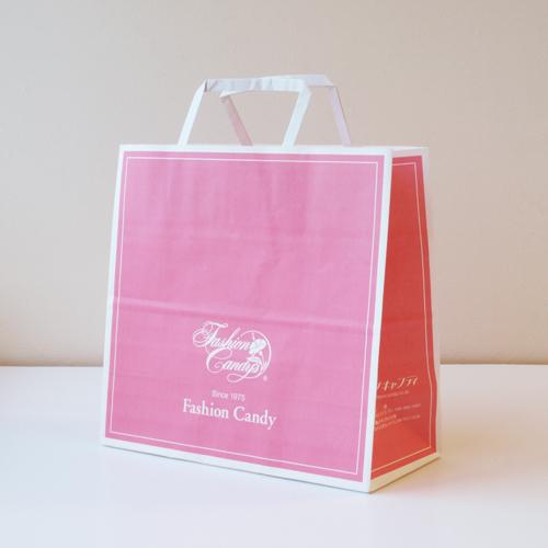 手提げ紙袋(ピンク・中)高さ250�o×横260�o×横幅118�o