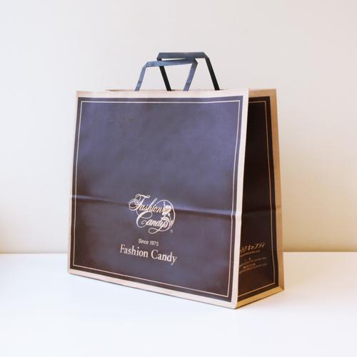 手提げ紙袋(茶・大)高さ350�o×横320�o×横幅138�o