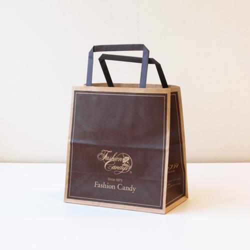 手提げ紙袋(茶・小)高さ190�o×横180�o×横幅90�o